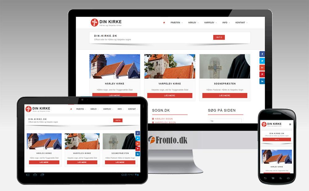 Din-kirke.dk - Responsive Web Design fra Fronto.dk